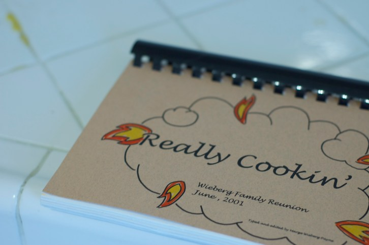 """The glorious Wieberg """"Really Cooking"""" Cookbook"""