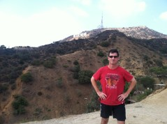 Hiking up to see the Hollywood Sign.