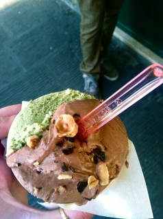 nothing tops well made pistachio gelato except when combined with well made bacio gelato