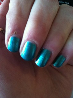 Feeling like a tween with my nails this color