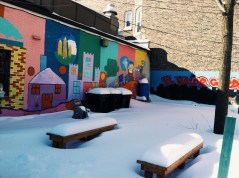 Mural painted by adults with mental disabilities