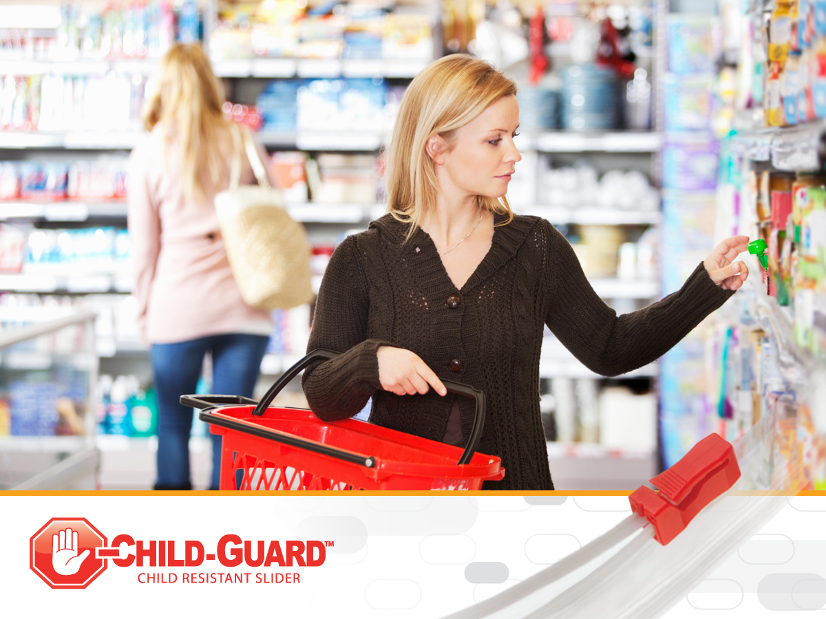 child-resistant flexible packaging in grocery stores