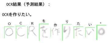 日本語自作OCR開発:行・列ごとのOCR出力結果