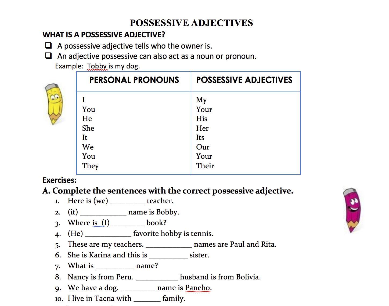 hight resolution of 1st Grade Adjective Worksheets – Worksheets for Kids