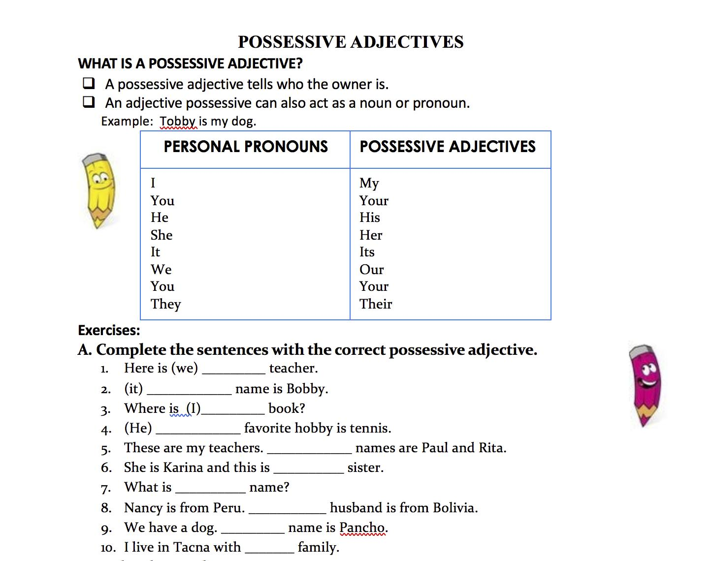 small resolution of 1st Grade Adjective Worksheets – Worksheets for Kids