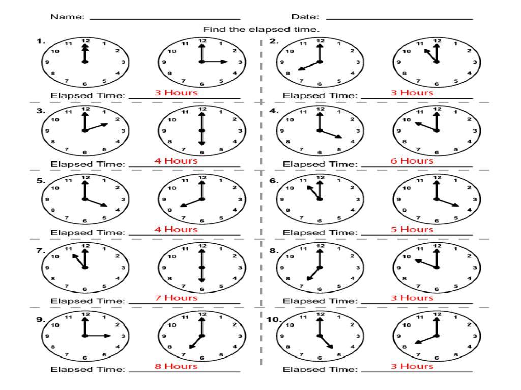 small resolution of 1st Grade Clock Worksheets – Worksheets for Kids