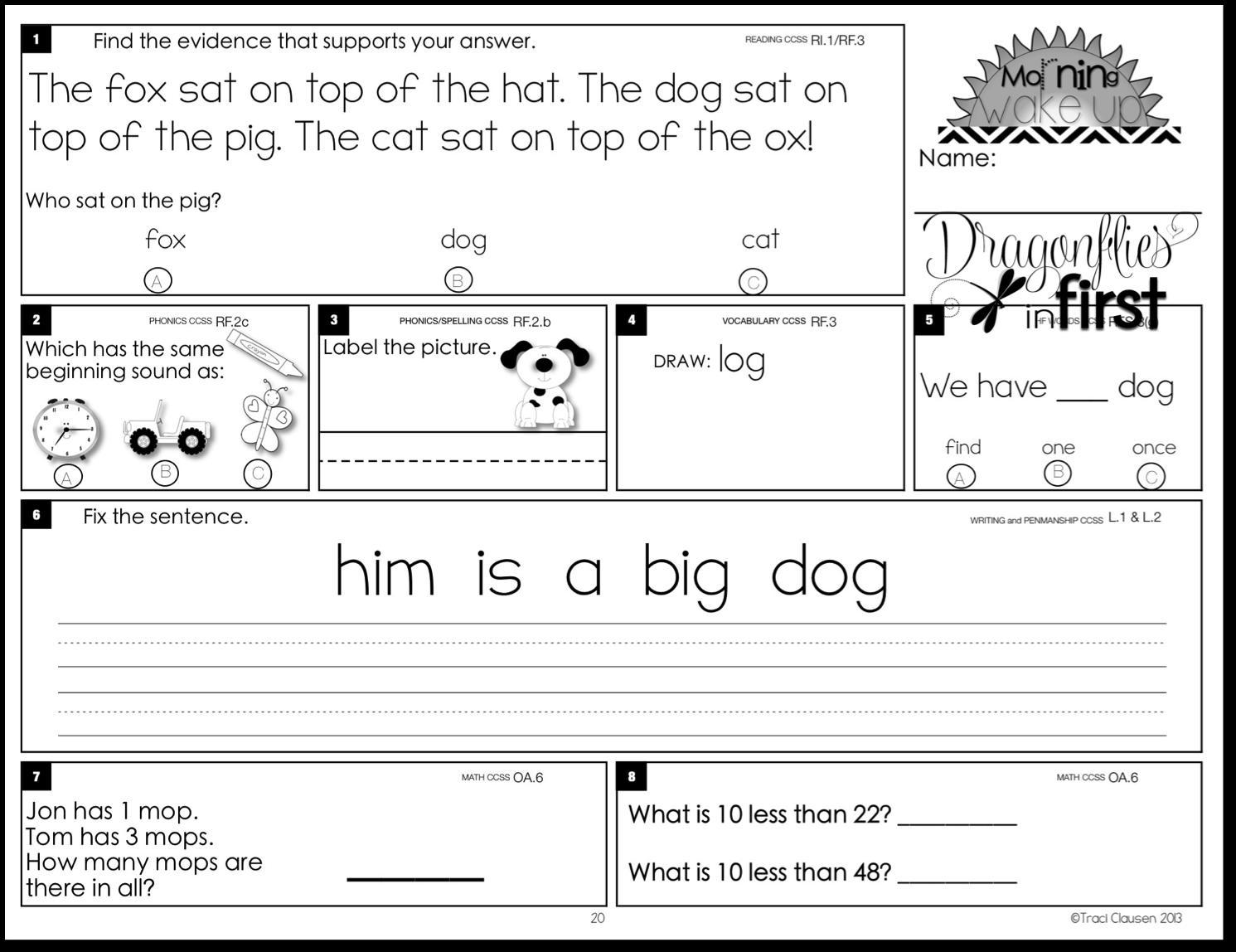 First Grade Buddies Worksheets – Worksheets for Kids [ 1148 x 1491 Pixel ]