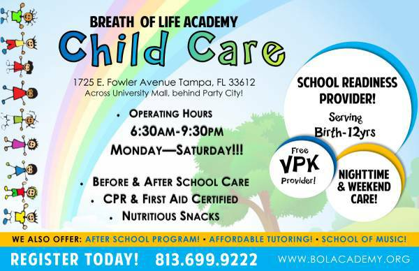 Breath Of Life Academy TAMPA FL Child Care Facility