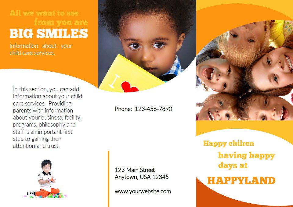 daycare brochure samples