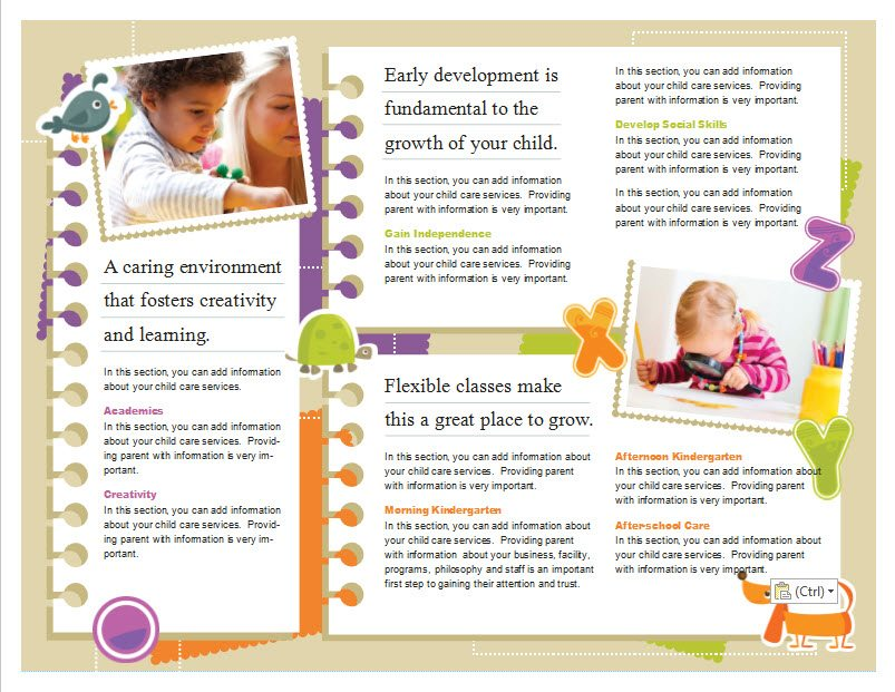 day care brochure