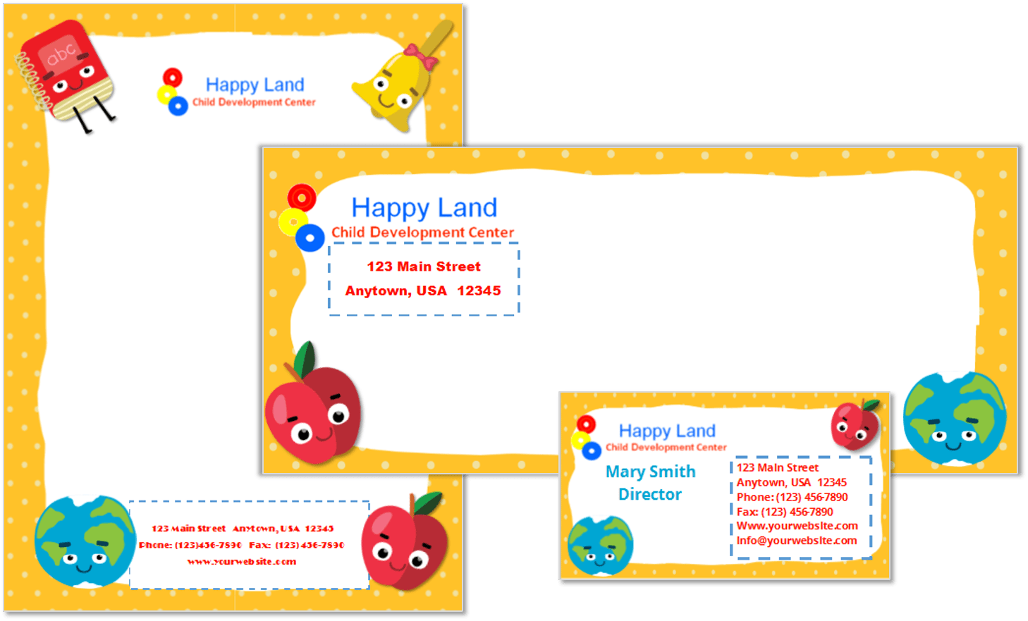 Child Care Stationery Set Template 22 - Child Care Owner