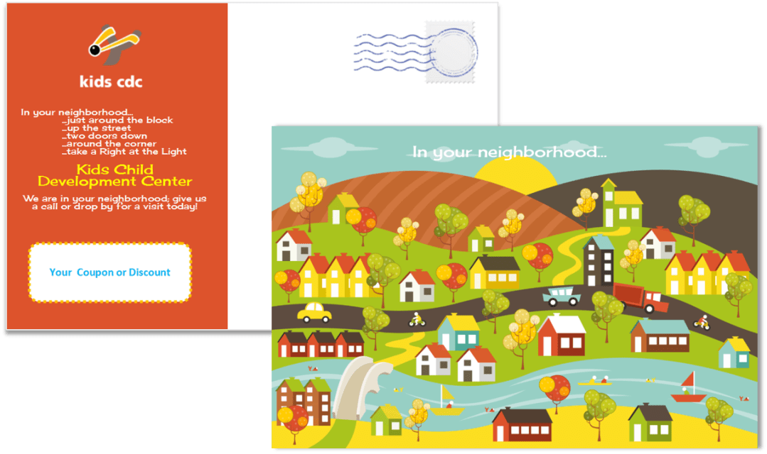 Child Care Postcard Template 13