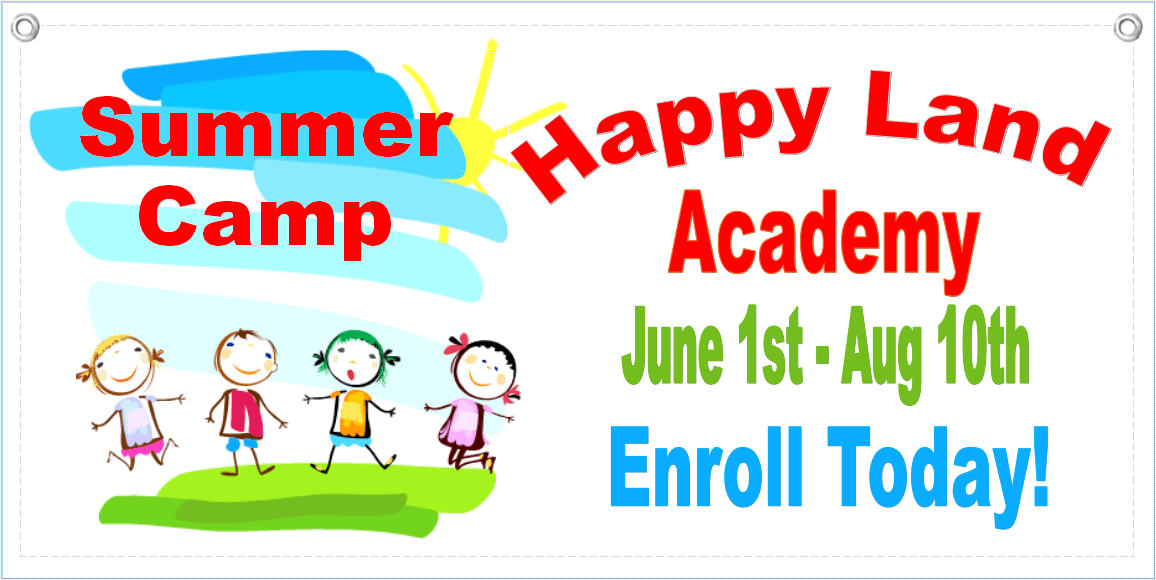 Summer Camp Banner Template 2 - Child Care Owner