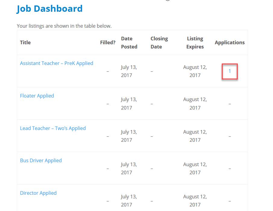 Job Dashboard