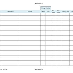 Free Vehicle Expense Log Template Wiring Diagram For Double Switch Search Results Printable Mileage Sheet