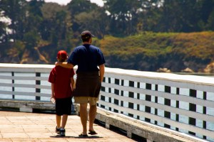 father and son walk-2