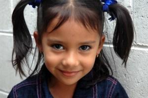 kindergarten girl pigtails