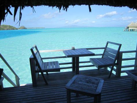 Intercontinental Le Moana Bora Bora overwater bungalow deck