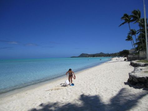 Matira Beach Bora Bora Tahiti