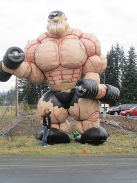 roadside inflatable muscle man