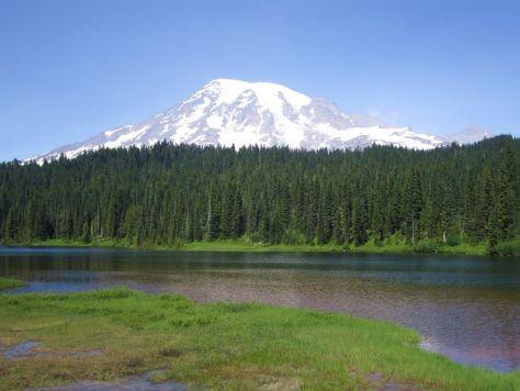 Reflection Lakes Mt Rainier National Park
