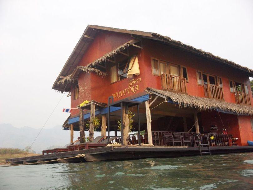 floating lake house safari Thailand