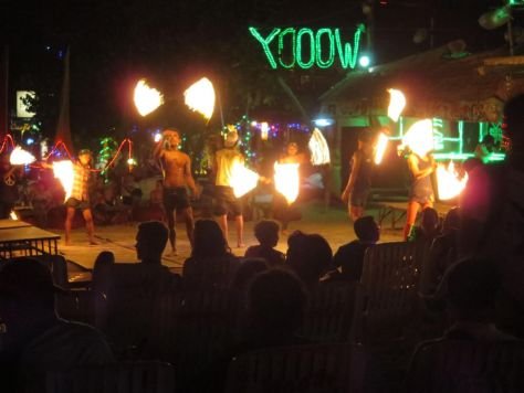 Woody's fire show Phi Phi Don Thailand 445