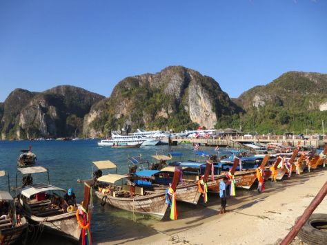 Longtail boats Phi Phi Don Thailand 465