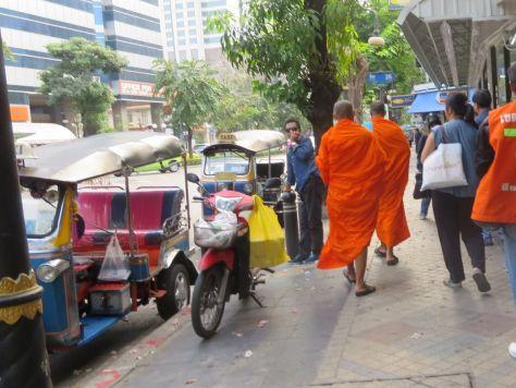 Monks in Bangkok, Thailand 671