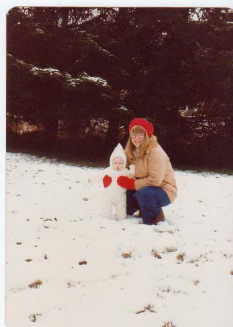 Me and my Mom snow in Friday Harbor
