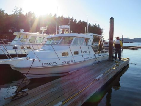 Legacy Charters tour boat