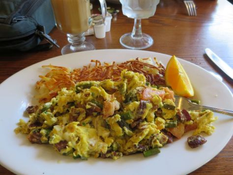 Bacon and brie scramble at First Street Haven Port Angeles