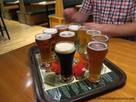 Hales Brewery beer sampler