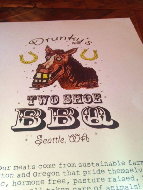 drunkys two shoe bbq menu frelard