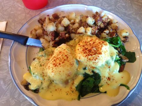 Veggie benedict, The Dish, FreLard Seattle