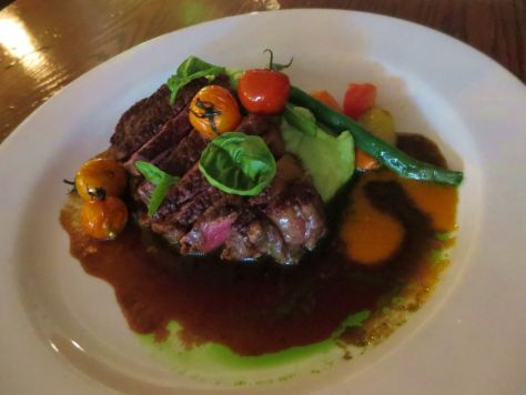 Sirloin steak Inn at Ship Bay Orcas island