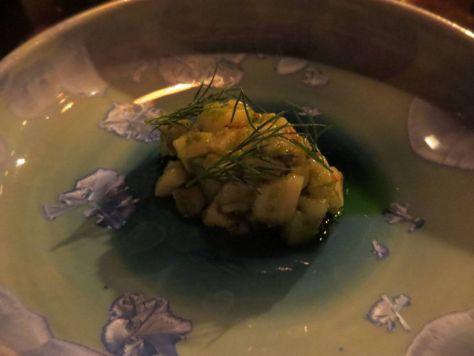 scallop tartare dill restaurant reykjavik