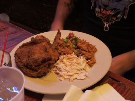 Fried chicken at Coops Place Hallowen in New Orleans