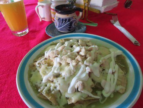 Chilaquiles at La Isla del Colibri restaurant Isla Holbox
