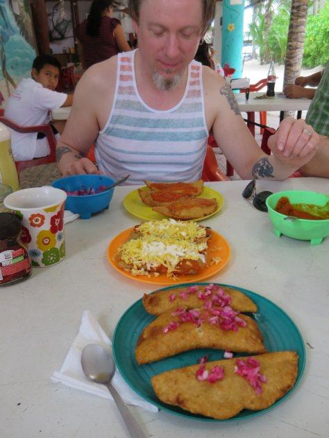 Empanadas at Las Panchas Isla Holbox