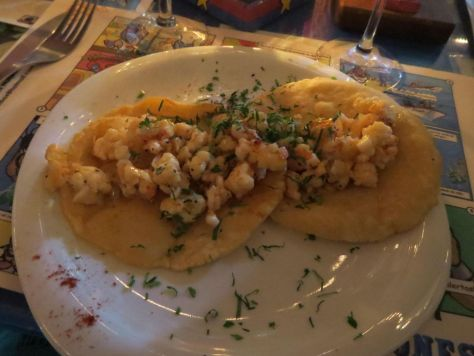 Lobster chalupitas at Los Peleones