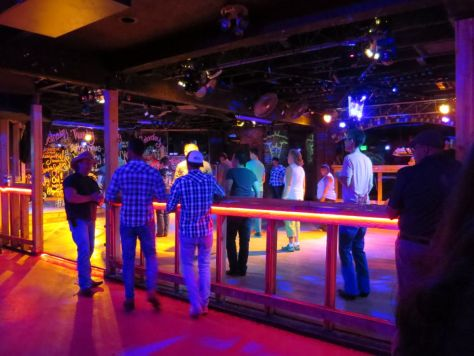 Line dancing at Charlie's bar in Denver