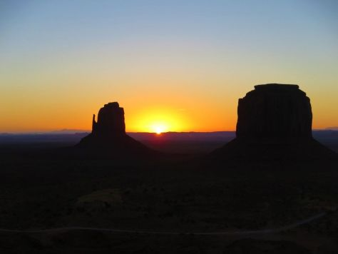 Sunrise from The View Hotel, Monument Valley