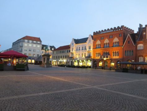 Esbjerg town square in the evening