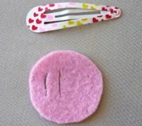 Valentines Craft Ideas: Heart to Heart Felt Hairclip ...