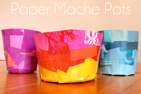 Kids Create Paper Mache Pots