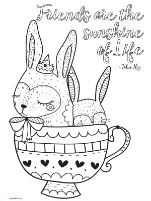 4 Cute Printable Inspirational Quotes Coloring Pages for