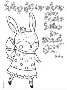 4 Free Inspirational Quote Colouring Pages for Tweens and