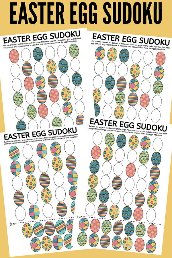 Egg Cellent Easter Egg Sudoku Puzzles Free Printable