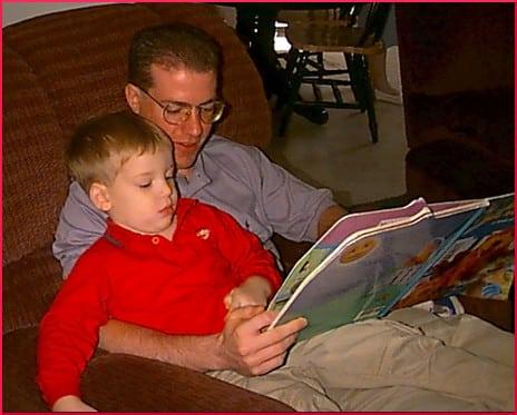 Reading to Zachary